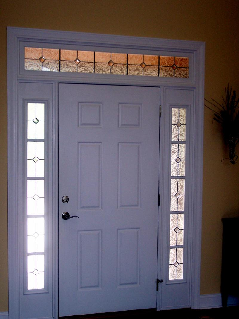 Home entrance door front door with sidelights for Door with light