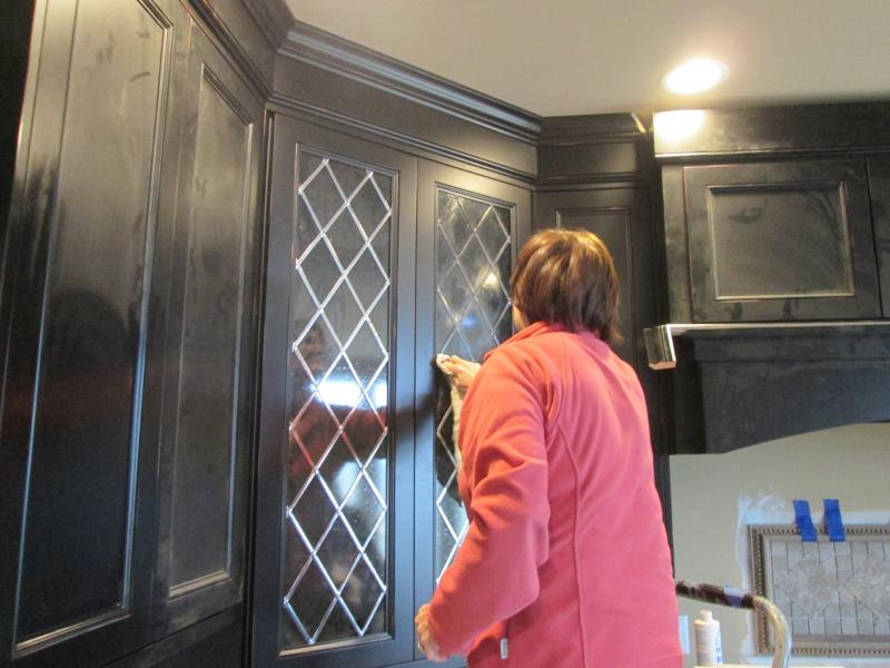 Leaded Glass Inserts For Kitchen Cabinets. Decorating Cabinet Door ...